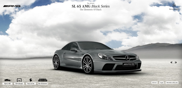 Mercedes benz sl 65 amg black series micro site is live for Mercedes benz website