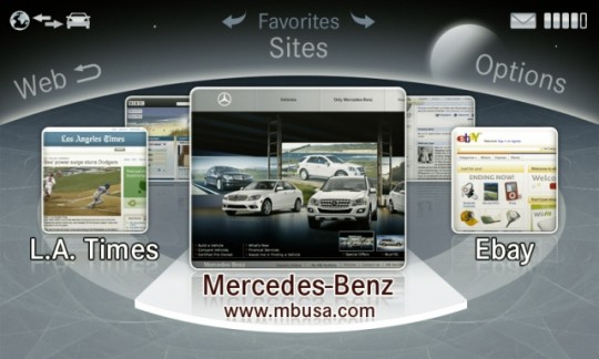 mercedes benz internet based command system 540x324 Mercedes Benz myCOMAND system to be 4G (LTE) equipped