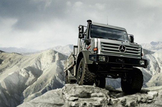 the mercedes benz unimog is the off roader of the year 2009 540x359 Mercedes Benz truck plants reducing employee hours