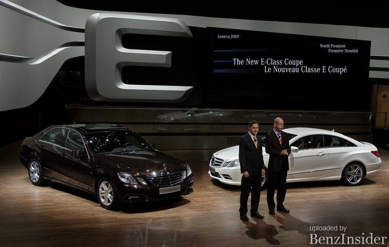 mercedes benz presents new e class sedan and coupe in geneva021 Geneva 2009: Mercedes Benz presents new E Class sedan and coupé