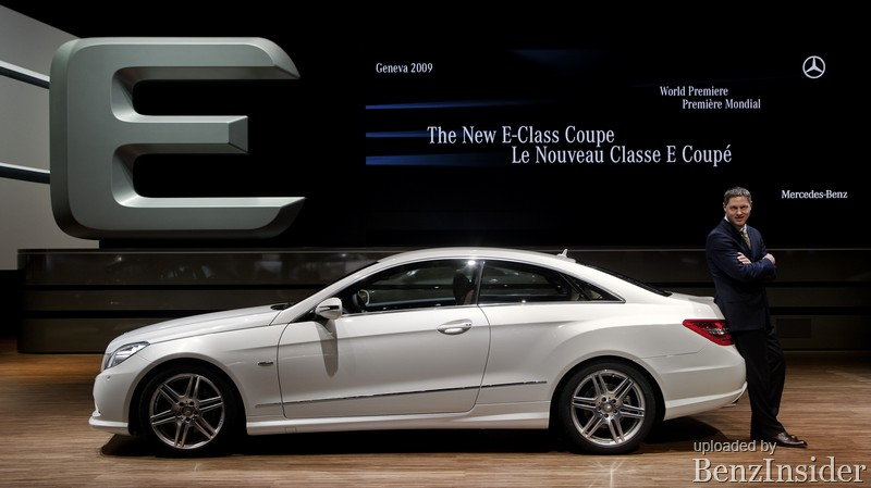 mercedes benz presents new e class sedan and coupe in geneva031 Geneva 2009: Mercedes Benz presents new E Class sedan and coupé