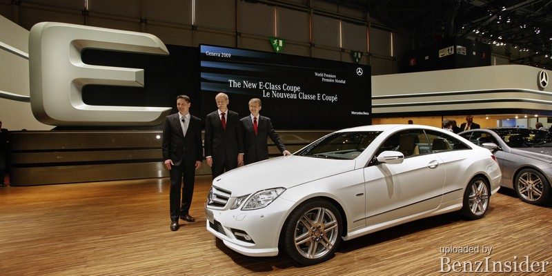 mercedes benz presents new e class sedan and coupe in geneva09 Geneva 2009: Mercedes Benz presents new E Class sedan and coupé