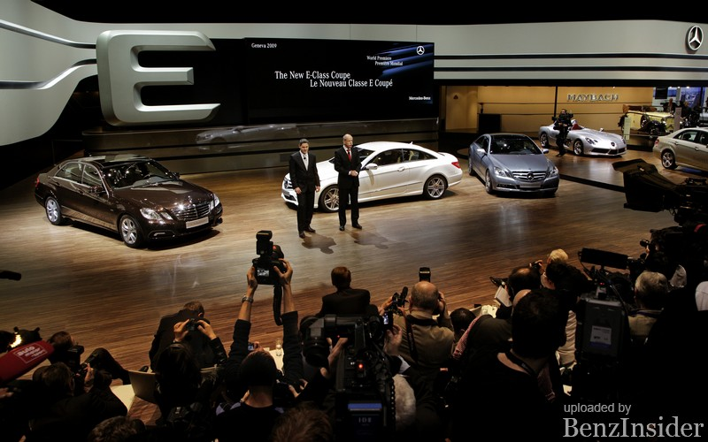 mercedes benz presents new e class sedan and coupe in geneva11 Geneva 2009: Mercedes Benz presents new E Class sedan and coupé