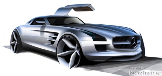 official interior pictures of the mercedes benz sls amg 02 small Official: Mercedes Benz SLS AMG interior pictures