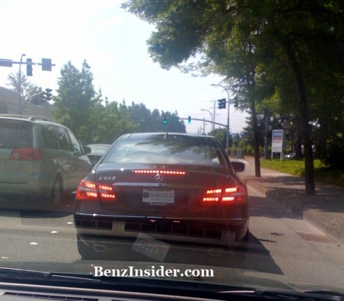 2010 mercedes benz e class coupe spotted in us 492x430 2010 Mercedes Benz E Class Coupe spotted   arriving at dealers?