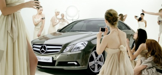 e class coupe wallpaper 4 540x253 The virtual photo shoot with the new Mercedes Benz E Class Coupé