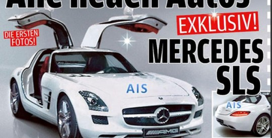 mercedes benz sls leaked image first shots 540x274 2011 Mercedes Benz SLS AMG Gullwing photo leaked