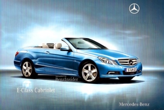 exclusive 2011 mercedes benz e class cabrio convertibel01 540x362 EXCLUSIVE: 2011 Mercedes Benz E Class Cabrio ad leaked