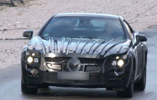 mercedes benz sl class 2012 spied1 540x343 Next Gen Mercedes Benz SL spied   coming in 2012