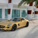 mercedes benz sls amg in a striking gold paint finish at the dubai motor show 125x125 Mercedes Benz SLS AMG in a striking gold paint finish at the Dubai Motor Show