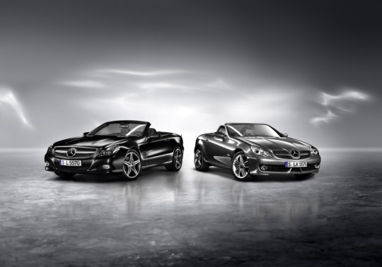 mercedes benz sl night edition and slk grand edition 540x378 Mercedes Benz SL Night Edition and SLK Grand Edition