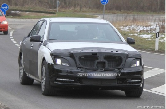 2013 mercedes benz s class test mule 100305877 m 540x355 Test mule of next gen Mercedes Benz S Class spotted