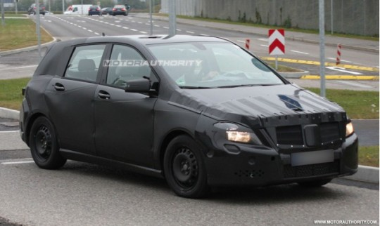 2012 mercedes benz b class spy shots 100230511 m 540x322 Mercedes Benz says high performing B Class to debut in 2012