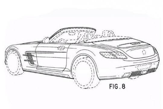 24slsrdstrpat 540x362 Mercedes Benz SLS AMG Roadster to launch in 2012