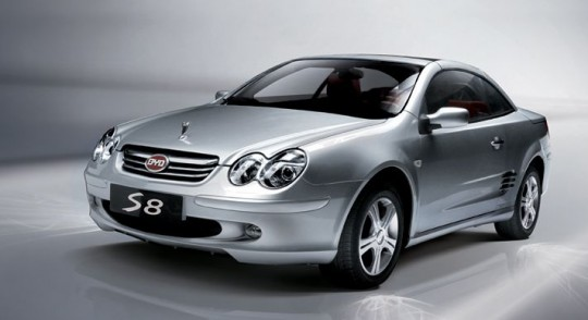 BYD s8 copy CLK mercedes benz 540x294 BYD goes from steal Mercedes Benz designs to working with them