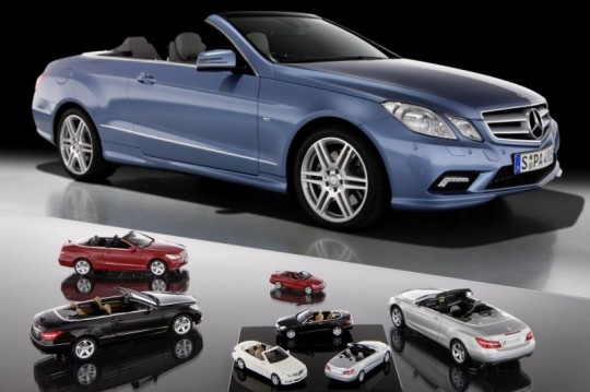 mercedes benz e class coupe scale models 540x359 Mercedes Benz E Class Cabrio miniatures available from Mercedes dealers