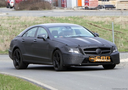2011 Mercedes Benz CLS AMG 01 540x378 Spy Pics of 2011 Mercedes Benz CLS AMG Emerge