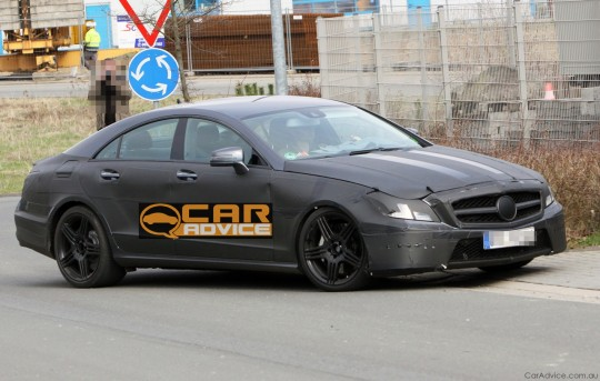 2011 Mercedes Benz CLS AMG 03 540x343 Spy Pics of 2011 Mercedes Benz CLS AMG Emerge