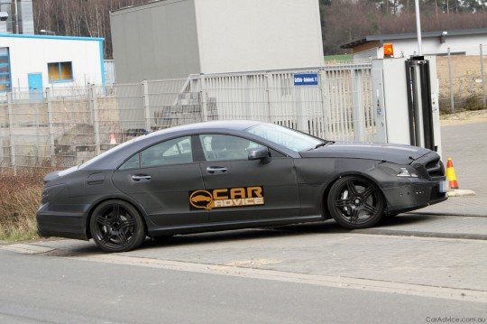 2011 Mercedes Benz CLS AMG 04 540x359 Spy Pics of 2011 Mercedes Benz CLS AMG Emerge