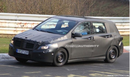 2012 mercedes benz b class spy shot 540x323 The upcoming 2012 B Class