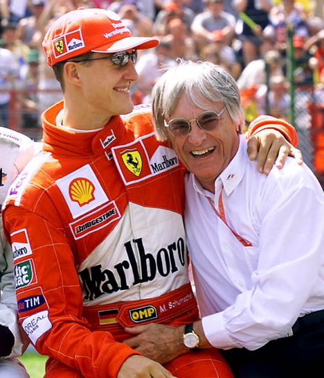 article 0 055D64DA0000044D 210 468x545 F1 boss Bernie Ecclestone still believes in Schumi comeback
