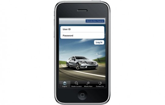 iphone financial app from mercedes benz now on ipad 19055 1 540x344 Mercedes Benz Financial iPhone app now available on the iPad