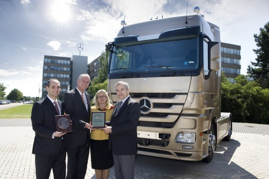 mercedes benz actros takes truck of the year 2009 title in poland 2 540x359 Mercedes Benz Trucks to strengthen market dominance with production plant in Turkey