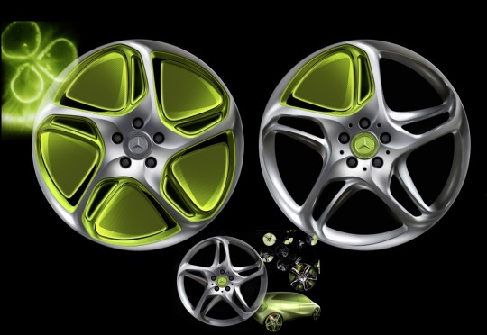 new mercedes benz wheels 540x372 New wheels for your Mercedes Benz hot off the grill