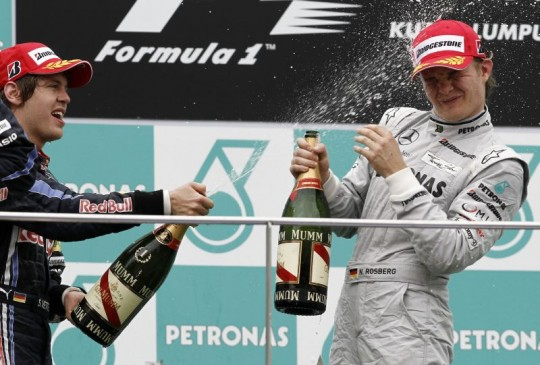 nico rosberg malaysia grand prix formula 1 540x365 Nico Rosberg places 3rd at the Malaysian Grand Prix