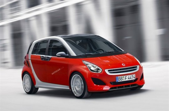 smart forfour new concept larger fortwo 540x357 From Fortwo, Smart now has Forfour