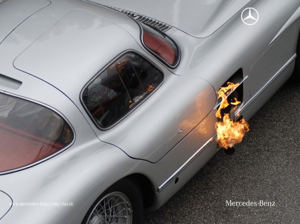 3266899750 0266ed665d o 597x447 Flame On! Mercedes Benz 300 SLR