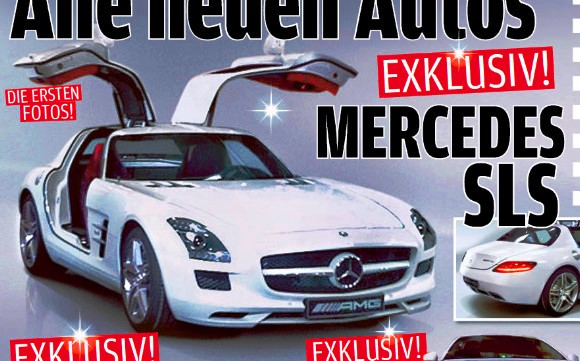 580sls autobild Mercedes Benz hooks top spots in AUTO BILD magazine poll; SLS AMG is Germanys most attractive