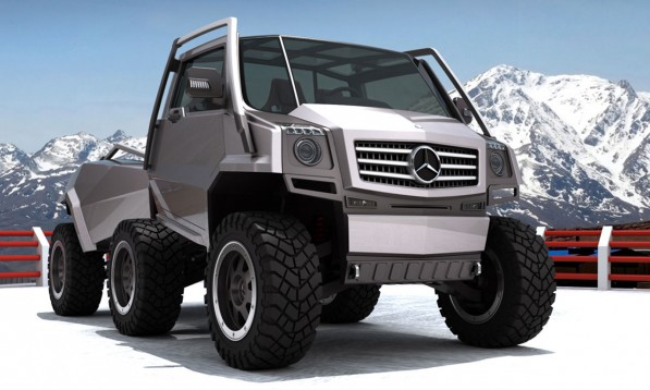 Mercedes Benz Hexawheel Concept3 597x358 Iranian Engineer Designs Extreme off road Mercedes Concept
