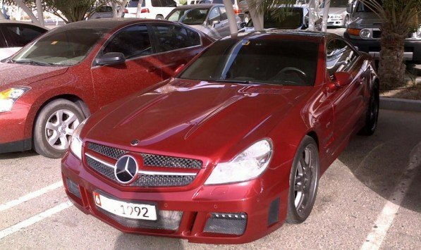 brabus red devil middle east 597x355 Brabus SV12 R Roadster   The Big Red Machine
