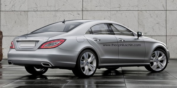 mercedes benz CLS rendering 2 597x298 Artist renderings of the new CLS