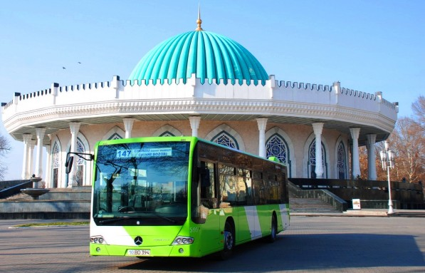 mercedes benz conecto for tashkent public transport authority 597x383 Daimler Buses sets up shop in Uzbekistan, partners with local company Uzavtosanoat