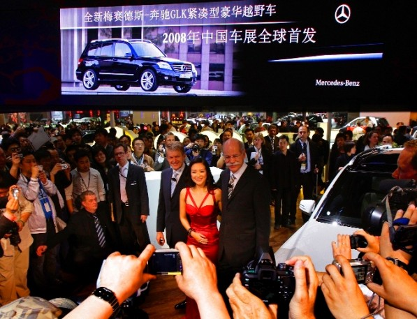 mercedes benz glk china auto show0081 597x457 Premium car segment players enjoying huge growths in China