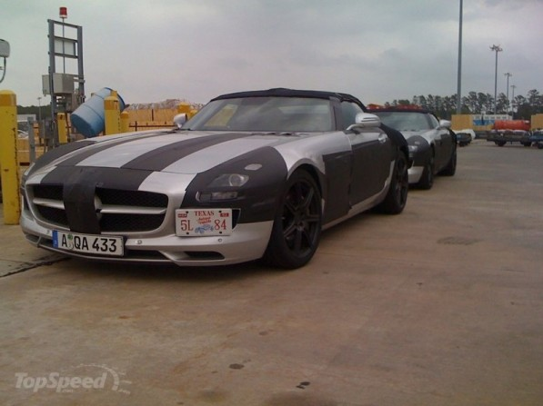 mercedes sls roadste 800x0w 597x447 Spy Shots of the New Mercedes SLS AMG Roadster Seen in Texas