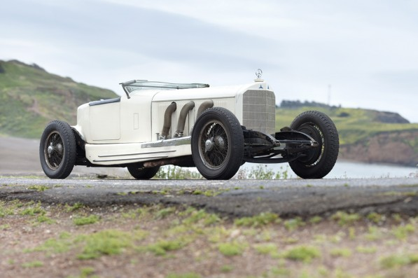 1927 merc benz s boattail 3 4 front 597x397 2010 Pebble Beach Concours to Auction 1927 Mercedes Benz S Boat tail  Speedster