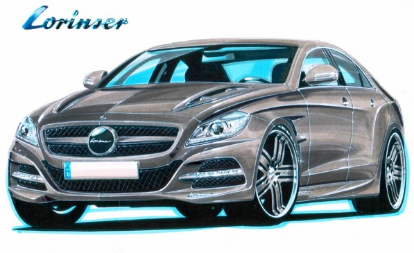 2011 mercedes cls lorinser tuning package in the works 21181 1 597x365 Lorinser draws plans for 2011 Mercedes Benz CLS