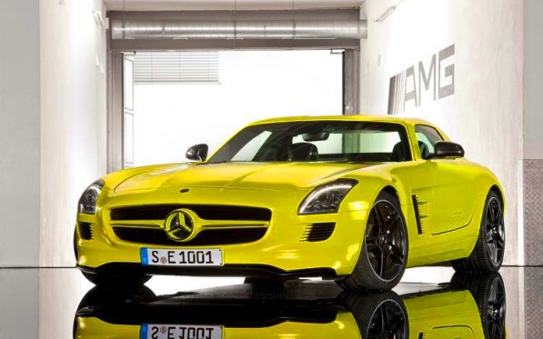 mercedes benz sls amg e cell prototype front three quarters 3 597x373 SLS AMG E Cell prototype launched