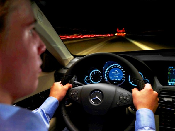mercedes benz talks safety in germany 21632 1 597x447 Tackling safety with Mercedes' Attention Assist System