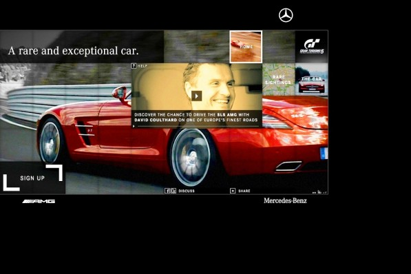 mercedes benz teases consumers on the sls amg driving experience 21195 1 597x398 Experience the SLS AMG this summer