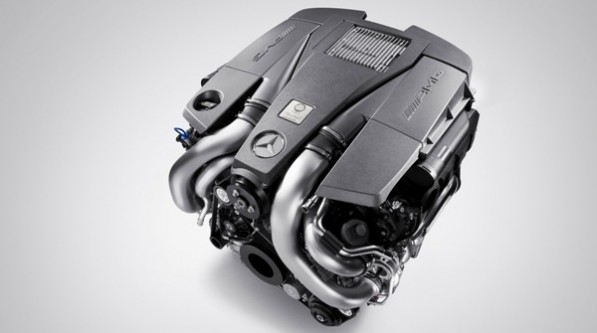 2010 amg 5 5 litre v8 biturbo engine 01 resized2 597x333 AMG 5.5 liter biturbo motor outperforms naturally aspirated V8