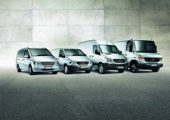 mercedes benz vans 597x423 Vans sales enjoying record growth all over global market