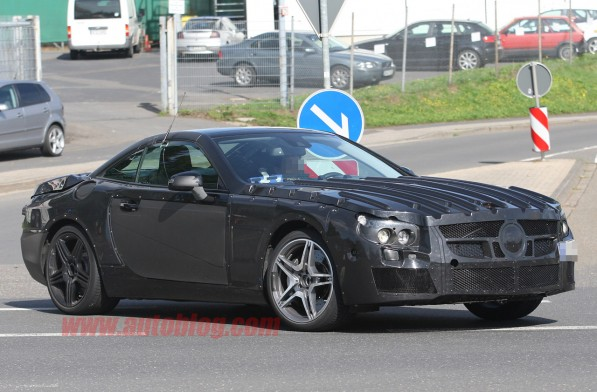 03 sl amg 597x392 Spy Photo: Latest Mercedes Benz SL63 AMG