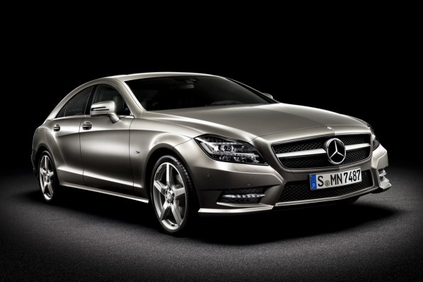 2011 Mercedes Benz CLS leaked 597x398 Official photos leaked of the 2011 Mercedes Benz CLS