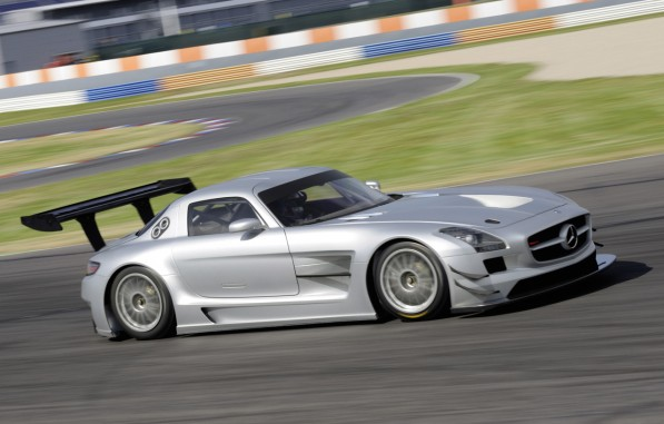 78952714474093659233910c885073 597x381 Mercedes Benz SLS AMG GT3 Ready To Order For 2011 Race Season