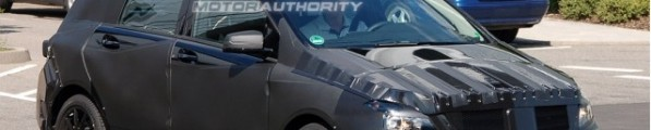 mercedes benz b class spy shots 597x120 Spy Photo: 2012 Mercedes Benz B Class with Interior