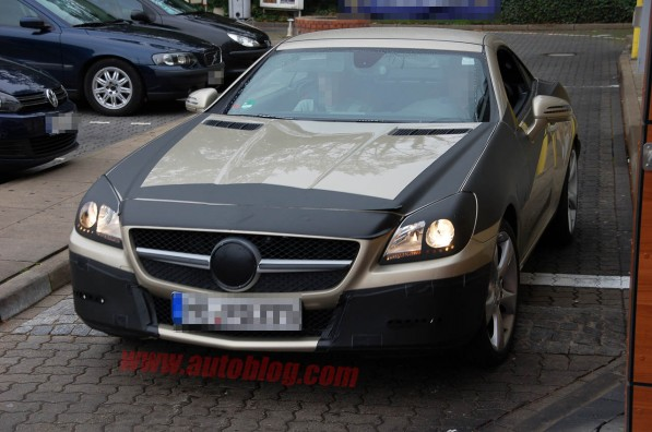 01 2012 slk cp sept 597x396 Spy Photo: Better Look At The 2012 Mercedes Benz SLK